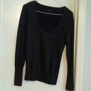 Boat neck long sleeve glimmer snug top